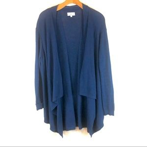 Waterfall front cardigan with slits | 100% cotton